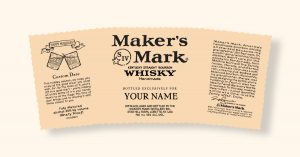 Read more about the article Maker's Mark Bespoke Whiskey – Custom Holiday Labels