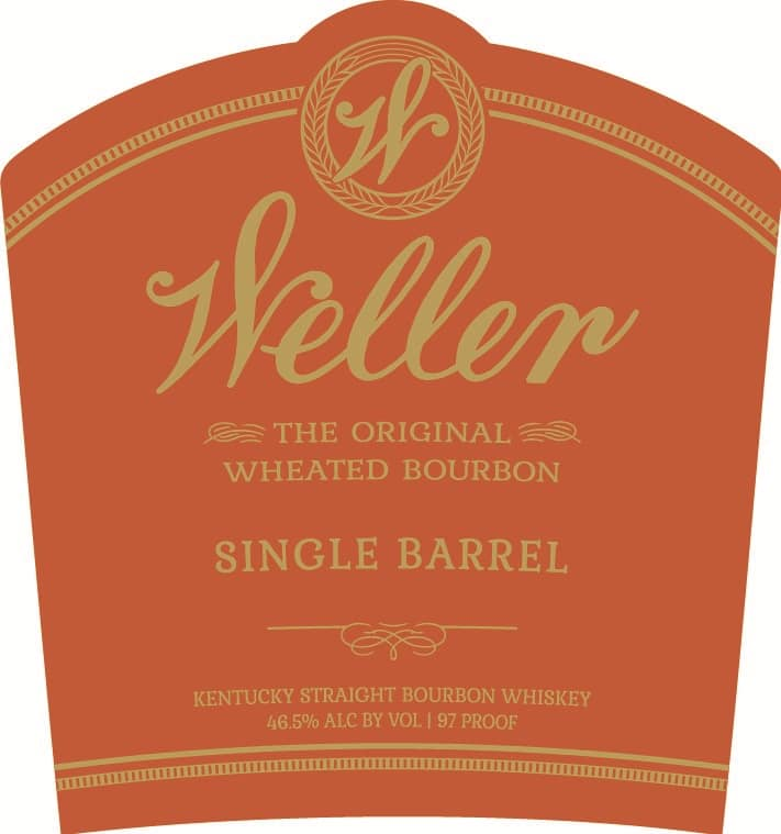 Weller Single Barrel Bourbon Label