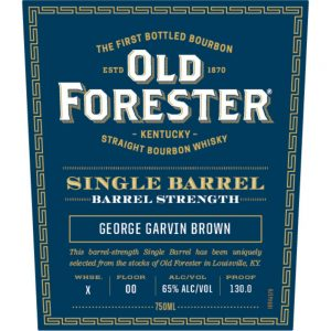 Old Forester Barrel Strength – OF Single Barrel Barrel Proof