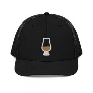 Half Full Whiskey Nosing Glass Trucker Cap