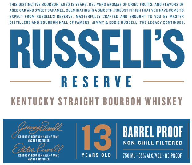 Russell's Reserve 13 Year Barrel Proof