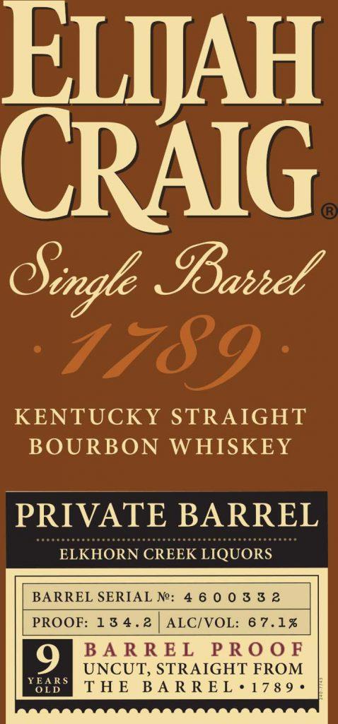 Elijah Craig Single Barrel Barrel Proof